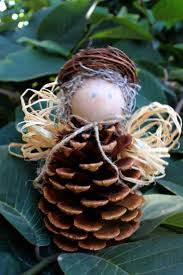 cone angel natale pinterest angel pinecone and pine cone