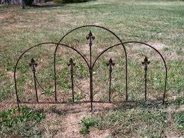 wrought iron dome garden edging fence
