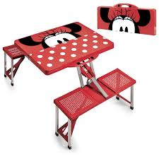 picnic tables folding with seats minnie mouse picnic table sport portable folding table with