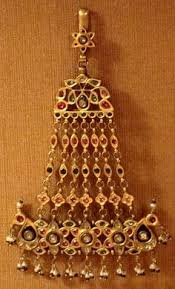 s hair ornaments from the state of punjab were worn hanging