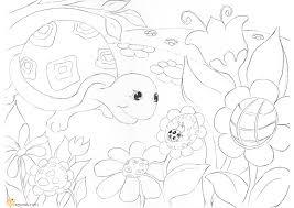 hattifant u0027s turtle coloring page hattifant