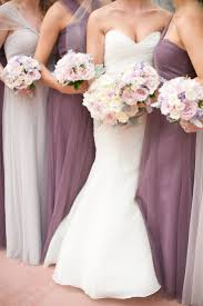 Purple Wedding Bouquets Wedding Flowers With Dark Blue Dresses Flowers