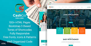 cash advance templates from themeforest