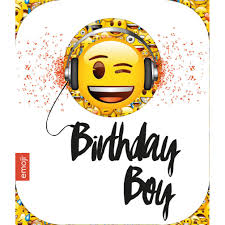birthday boy smiley birthday boy emoji birthday card 243901 character brands