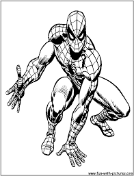 spider man coloring pages black white sketch coloring