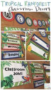 theme classroom decor rainforest classroom decor editable jungle theme classroom