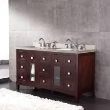 Golia 60 Vanity Golia 60 In Double Hardwood Vanity 24 Bathroom Vanity With