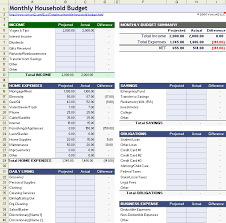 Household Expense Spreadsheet Household Budget Worksheet For Excel