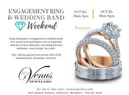 nj wedding bands venus jewelers presents engagement ring wedding band weekend 10