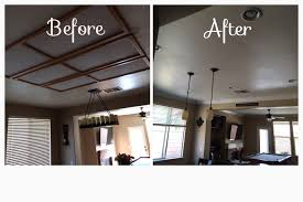 3 recessed can lights removed recessed fluorescent lighting and added 6 can lights and 3