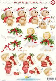 morehead christmas angel little boy with a gift u0026 teddy bear 3d