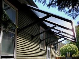 Material For Awnings Transparent Awning For Home Design