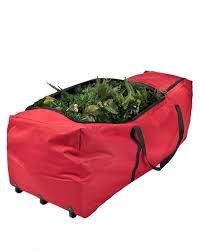 Xmas Tree Storage Container - christmas extra large roll christmas tree storage bag red fabric