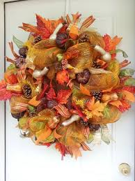 Thanksgiving Deco Mesh Wreaths 320 Best Thanksgiving Wreaths U0026 Decorations Images On Pinterest