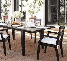 Black Extending Dining Table And Chairs Hstead Painted Extending Dining Table Black Pottery Barn