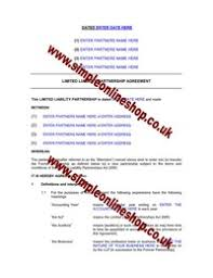llp partnership agreement online forms and documents company