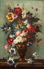 floral art exhibition wallpapers willem van aelst flower still life with a watch 1663 from the