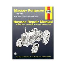 the massey ferguson 35 tractor workshop service manual amazon co