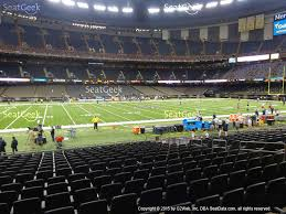 mercedes dome orleans mercedes superdome section 116 seat views seatgeek