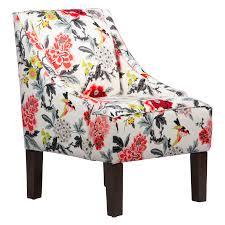 skyline furniture swoop arm chair candid moment ebony hayneedle
