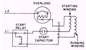 single phase capacitor start capacitor run motor wiring diagram