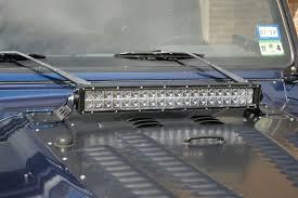 jeep jk hood led light bar jeep tj hood mounts for 20 inch led light bar motobilt metal