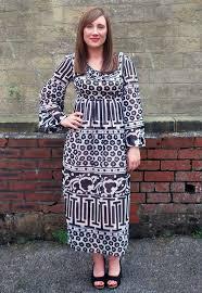 vintage 1960s jean varon monochrome maxi dress vintage dresses