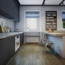 Bright Kitchen Galley Normabudden Com Kitchen Cozy Exposed Brick Kitchen Photos Fearsome In Ideas