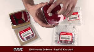 real vs fake knockoff jdm honda emblem comparision youtube