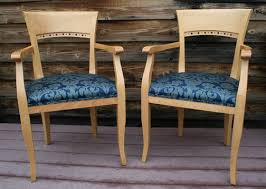 Wooden Arm Chairs Before U0026 After Wood Arm Chair Seat Re Upholstery