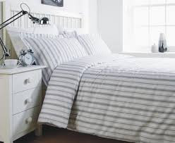 grey stripe single duvet cover set amazon co uk kitchen u0026 home