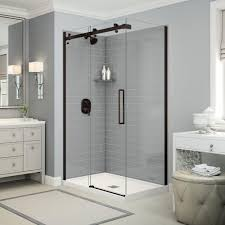 Maax Glass Shower Doors by Azure 4234 Corner Shower Advanta By Maax Base And Glass Are A