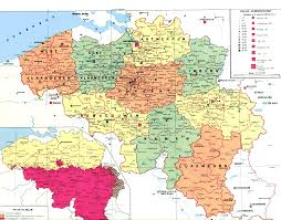 map of begium map of belgium