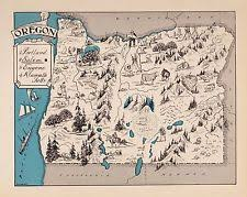 oregon map ebay