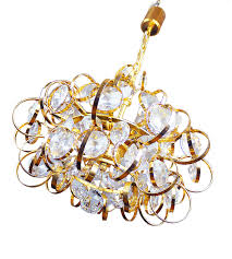 ruby chandelier german sputnik gold plated crystal chandelier from palwa 1960s