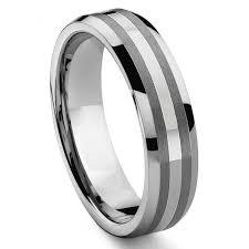 14k white gold wedding band don 6mm tungsten carbide 14k white gold inlay wedding band