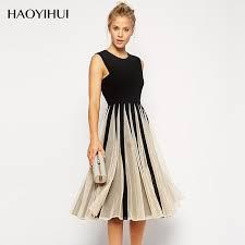 haoyihui vintage dress for dinner classical dress elegent