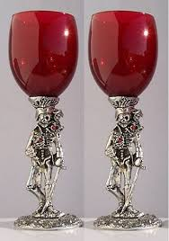wedding goblets pirate wedding toasting glasses set 2 glasses wedding collectibles