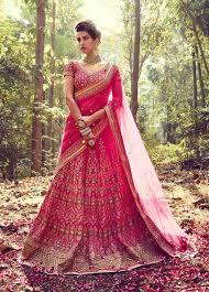2017 latest bridal dress buy online pink ghaghra choli for dulhan