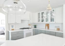 white and gray painted kitchen cabinets centsational remodel features white and gray kitchen cabinets