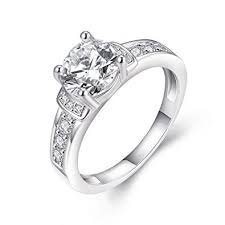 white gold promise rings eternity women s pretty 18k white gold plated