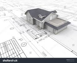 Blueprint Of A House House Blueprints Top Perspective View House Stock Illustration