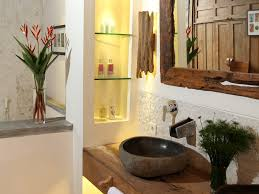 bathroom cascading lights mountain style powder integrated sink