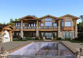 luxury craftsman style home plans mountain craftsman house plans mountain sloping lot luxury