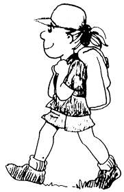 hiking boot coloring page virtren com