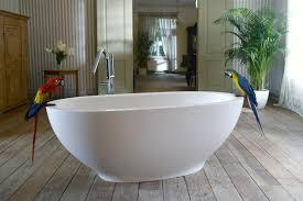 Stone Freestanding Bathtubs Aquatica Karolina Freestanding Solid Surface Bathtub Fine Matte