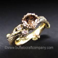 nature inspired engagement rings gold n oak world nature inspired wedding ring set