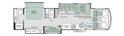 class a rv floor plans 3071 37ft challenger 2017 inland empire rv rentals