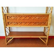 Rattan Bookcase Rattan Bookcase With 4 Shelves And 2 Drawers 1960s Design Market