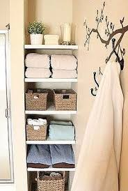 bathroom closet shelving ideas narrow built in shelves are only 12 wide but pack a ton of